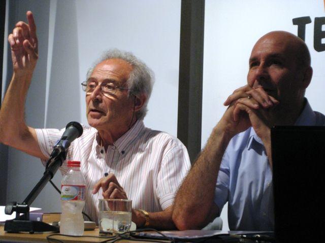 Elgström  i Colobràn, en un moment de la conferència.